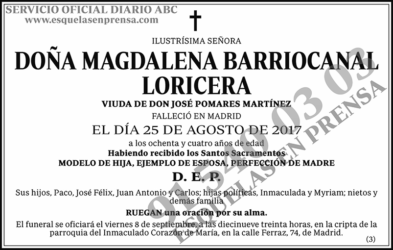 Magdalena Barriocanal Loricera